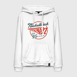 Толстовка-худи хлопковая мужская Nickelback Est. 1995 цвета белый — фото 1