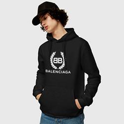 Толстовка-худи хлопковая мужская Balenciaga Fashion цвета черный — фото 2
