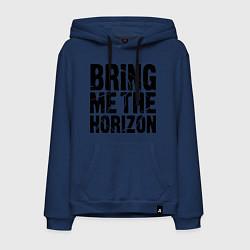 Толстовка-худи хлопковая мужская Bring me the horizon цвета тёмно-синий — фото 1