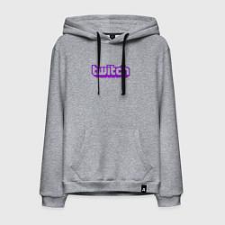 Толстовка-худи хлопковая мужская Twitch Logo цвета меланж — фото 1