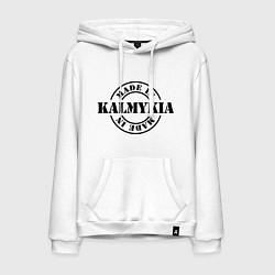 Толстовка-худи хлопковая мужская Made in Kalmykia цвета белый — фото 1