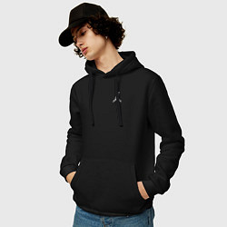 Толстовка-худи хлопковая мужская AIR JORDAN WHITE цвета черный — фото 2