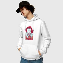 Толстовка-худи хлопковая мужская IT цвета белый — фото 2