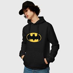 Мужская толстовка с капюшоном с принтом Batman, цвет: черный, артикул: 10196013700010 — фото 2