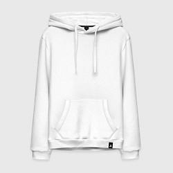 Толстовка-худи хлопковая мужская Infinity цвета белый — фото 1