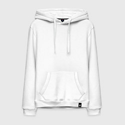 Толстовка-худи хлопковая мужская VOLVO цвета белый — фото 1