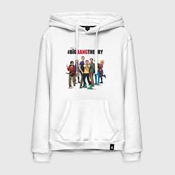 Толстовка-худи хлопковая мужская Heroes of the Big Bang Theory цвета белый — фото 1
