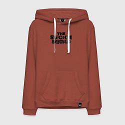 Толстовка-худи хлопковая мужская The Suicide Squad цвета кирпичный — фото 1