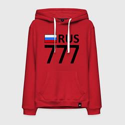 Толстовка-худи хлопковая мужская RUS 777 цвета красный — фото 1