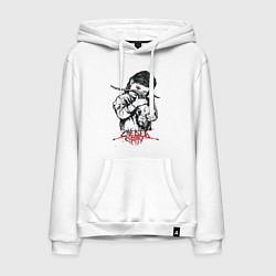 Толстовка-худи хлопковая мужская Chelsea Grin: Demon Girl цвета белый — фото 1