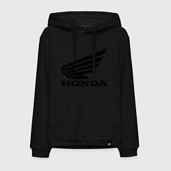 Толстовка-худи хлопковая мужская Honda Motor цвета черный — фото 1