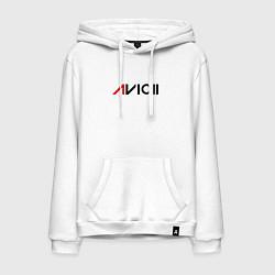 Толстовка-худи хлопковая мужская Avicii цвета белый — фото 1