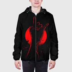 Куртка с капюшоном мужская Zombie Rock цвета 3D-черный — фото 2