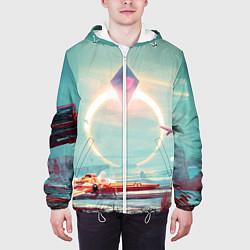 Куртка с капюшоном мужская No Mans Sky цвета 3D-белый — фото 2