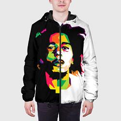 Куртка с капюшоном мужская Bob Marley: Colors цвета 3D-черный — фото 2