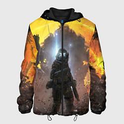 Куртка с капюшоном мужская Titanfall: Robots War цвета 3D-черный — фото 1