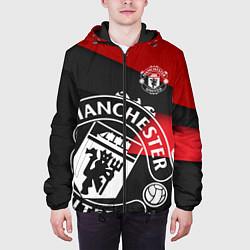 Куртка с капюшоном мужская FC Man United: Exclusive цвета 3D-черный — фото 2