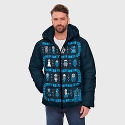 Куртка зимняя мужская Доктор Кто: узор цвета 3D-черный — фото 2