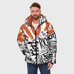 Куртка зимняя мужская Paramore: Riot цвета 3D-черный — фото 2