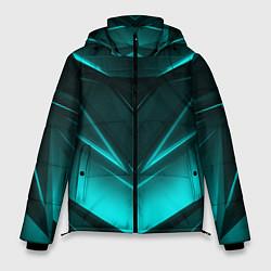 Куртка зимняя мужская NEON GEOMETRY STRIPES цвета 3D-черный — фото 1