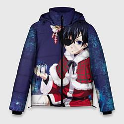 Куртка зимняя мужская Аниме цвета 3D-черный — фото 1