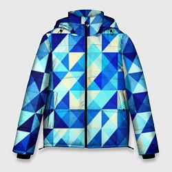 Мужская зимняя куртка Синяя геометрия