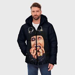 Куртка зимняя мужская Mаrilyn Manson: Biker цвета 3D-черный — фото 2