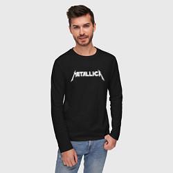 Лонгслив хлопковый мужской Metallica цвета черный — фото 2
