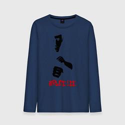 Лонгслив хлопковый мужской Bruce Lee цвета тёмно-синий — фото 1