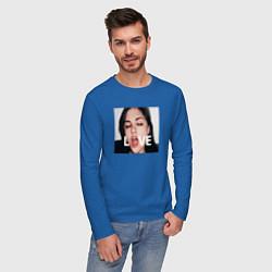 Лонгслив хлопковый мужской Sasha Grey LOVE цвета синий — фото 2