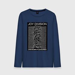 Лонгслив хлопковый мужской Joy Division: Unknown Pleasures цвета тёмно-синий — фото 1