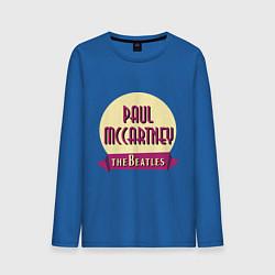 Лонгслив хлопковый мужской Paul McCartney: The Beatles цвета синий — фото 1