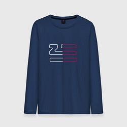 Лонгслив хлопковый мужской Introducing Zhu цвета тёмно-синий — фото 1