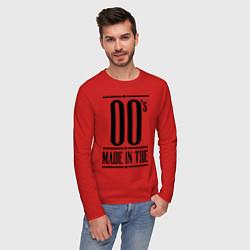 Лонгслив хлопковый мужской Made in the 00s цвета красный — фото 2