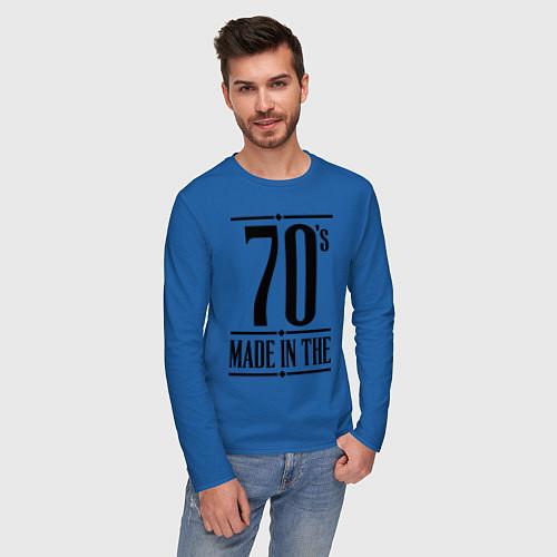 Мужской лонгслив Made in the 70s / Синий – фото 3