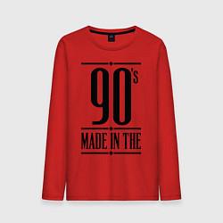 Лонгслив хлопковый мужской Made in the 90s цвета красный — фото 1
