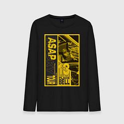 Лонгслив хлопковый мужской ASAP Rocky: Place Bell цвета черный — фото 1