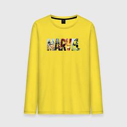 Лонгслив хлопковый мужской Marvel Comics цвета желтый — фото 1