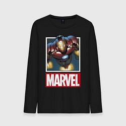 Лонгслив хлопковый мужской Iron Man: Mark III цвета черный — фото 1