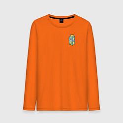 Лонгслив хлопковый мужской Lyrical Lemonade цвета оранжевый — фото 1