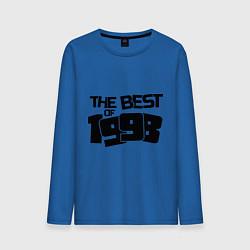 Лонгслив хлопковый мужской The best of 1998 цвета синий — фото 1