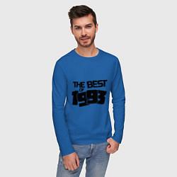Лонгслив хлопковый мужской The best of 1993 цвета синий — фото 2