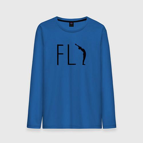 Мужской лонгслив Yoga Fly / Синий – фото 1