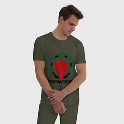 Пижама хлопковая мужская Orc Mage - Doomcryer цвета меланж-хаки — фото 2