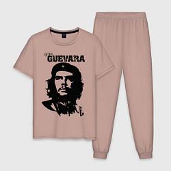 Пижама хлопковая мужская Che Guevara цвета пыльно-розовый — фото 1