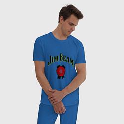 Пижама хлопковая мужская Jim Beam цвета синий — фото 2