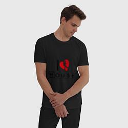 Пижама хлопковая мужская I love House MD цвета черный — фото 2