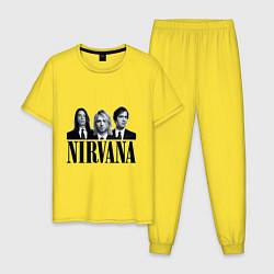 Пижама хлопковая мужская Nirvana Group цвета желтый — фото 1