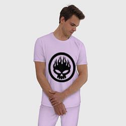 Пижама хлопковая мужская The Offspring: Sybmol цвета лаванда — фото 2
