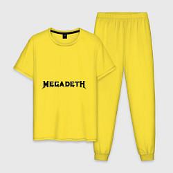 Пижама хлопковая мужская Megadeth цвета желтый — фото 1